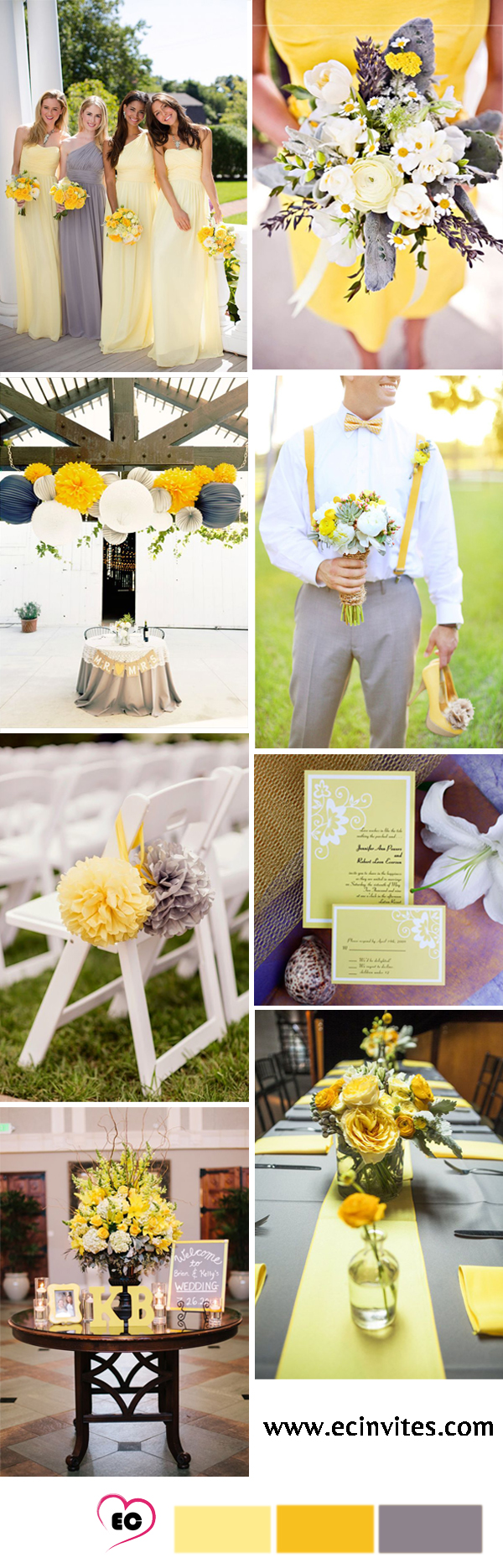 Gray Color Wedding Inspirations Showing Beautifulness To Your