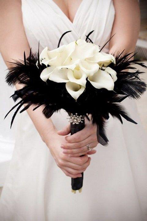 monochrome bouquet design