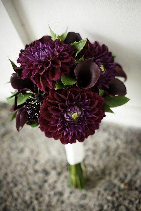 burgundy lily wedding bouquet
