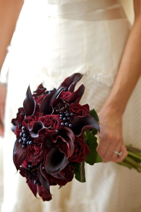 charming burgundy bouquets