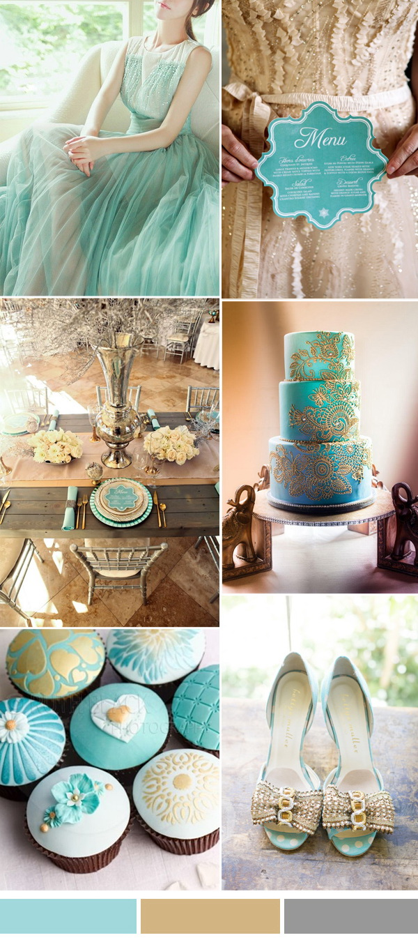 island-paradise-aqua-and-gold-wedding-color-inspriation-ideas