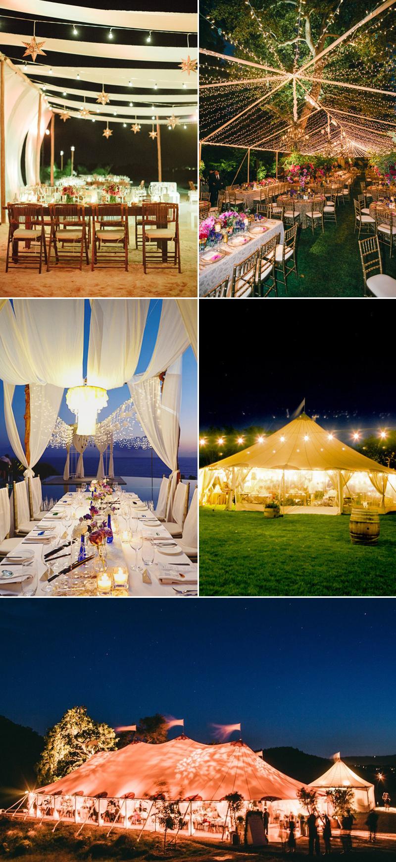lighted tent wedding ideas