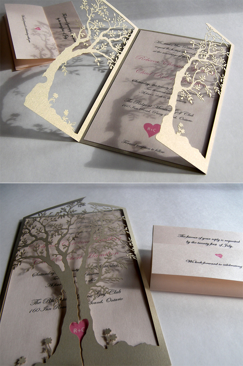 attractive vintage wedding invitations