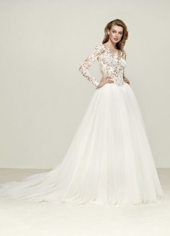 waist ballgown wedding dress