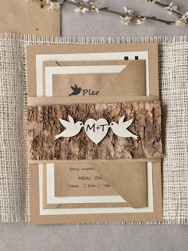 Rustic Wedding Invitations With Chic And Unique Design Ideas