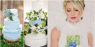 blue wedding cakes design