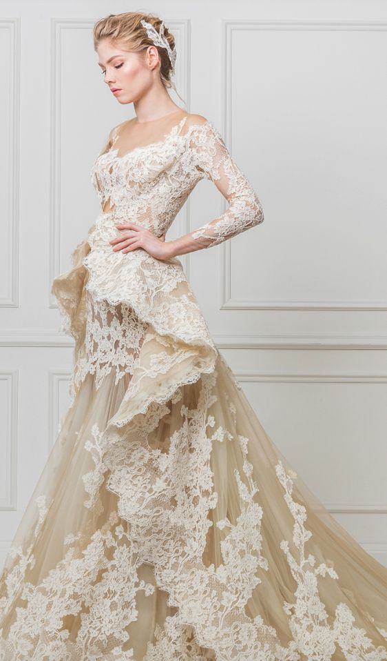 beautiful waist gown with lace