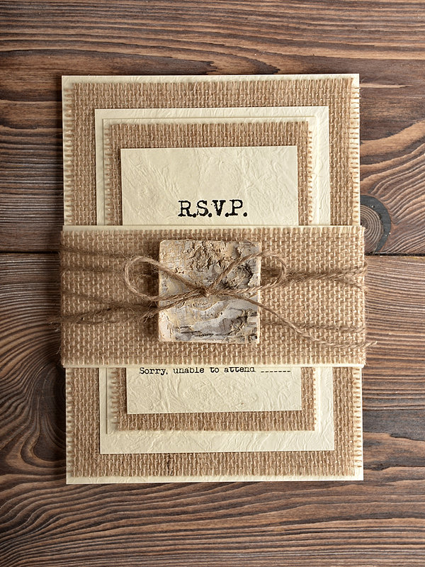unique rustic wedding card