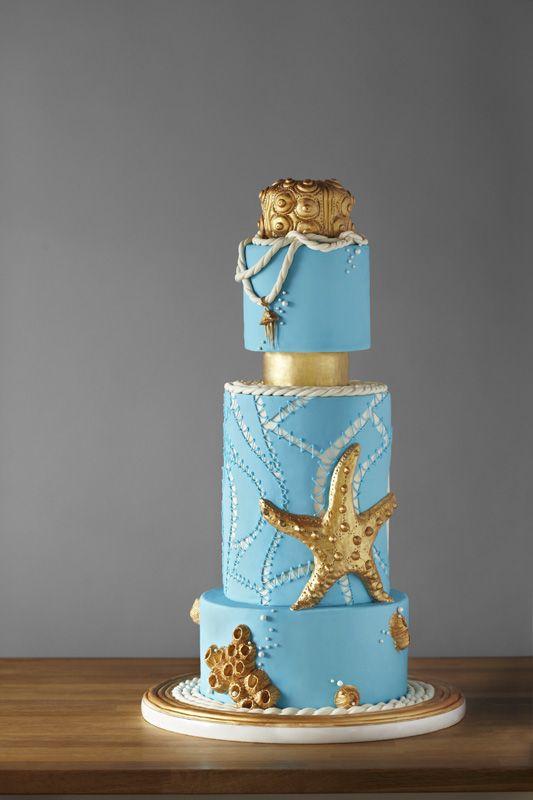 unique blue cakes design