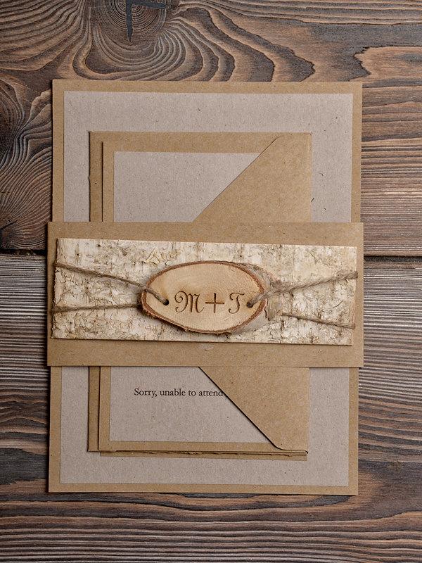 simple rustic wedding invitation