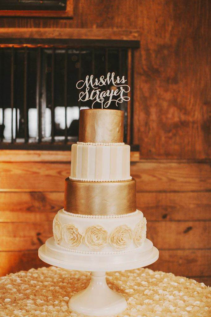 vintage wedding cake design