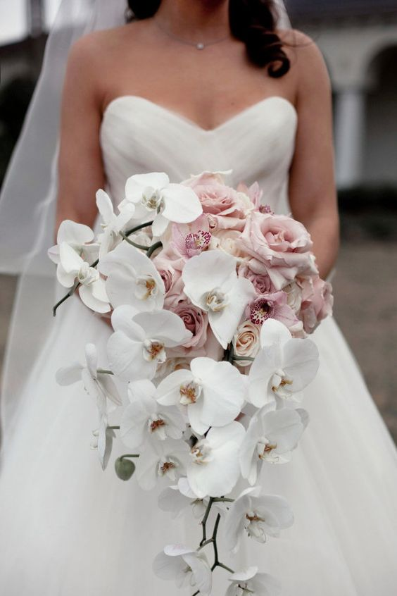 white small orchids wedding