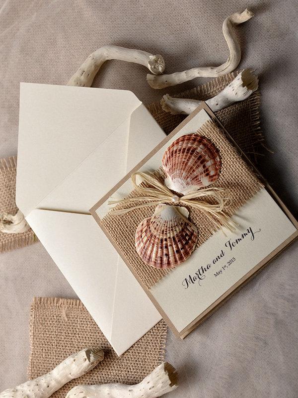 rustic wedding with seashell