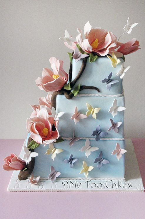 awesome blue wedding cake