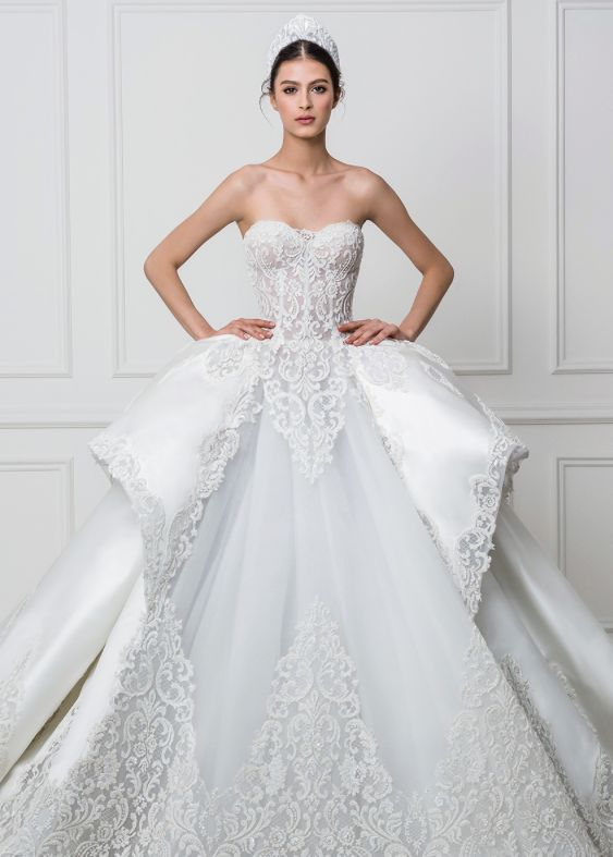 beautiful waist ballgown dress