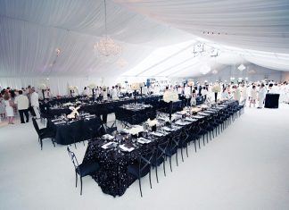 elegant black and white wedding themes