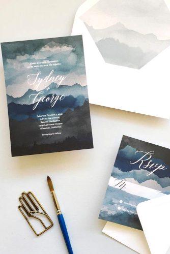 paint wedding invitation