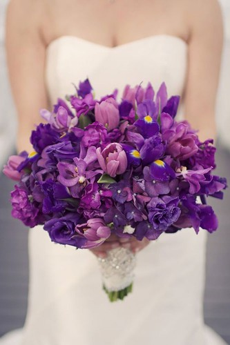 cute purple wedding bouquet