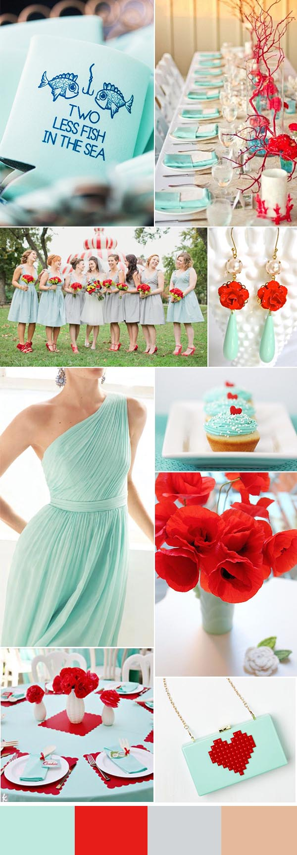 red-and-mint-summer-wedding-ideas-with-summer-wedding-koozie-favor