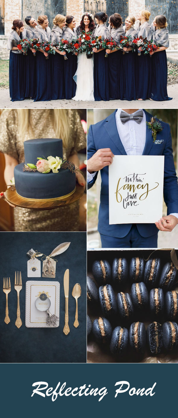 romantic-reflecting-pond-blue-wedding-color-ideas-for-fall