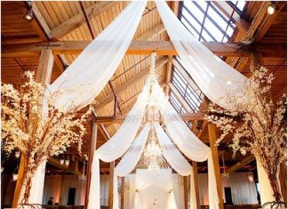 stunning rustic wedding barn design