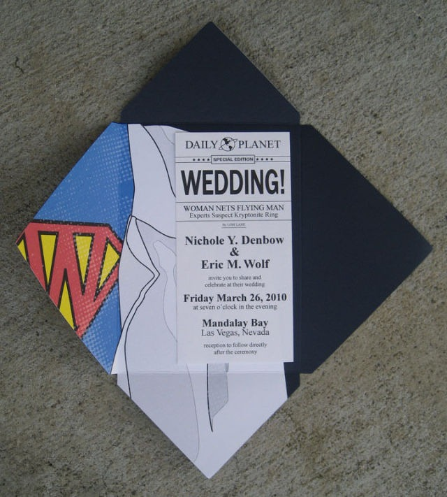superman wedding invitation