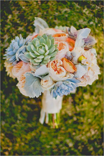 spring bouquet with succulent