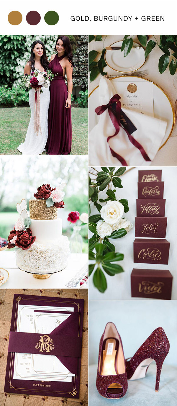 trending-gold-burgundy-and-green-wedding-color-ideas