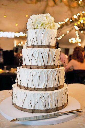 twig winter wedding cake