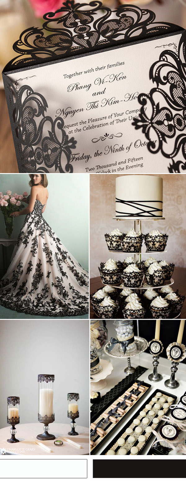 vintage-black-and-white-lace-wedding-ideas-and-wedding-invitations
