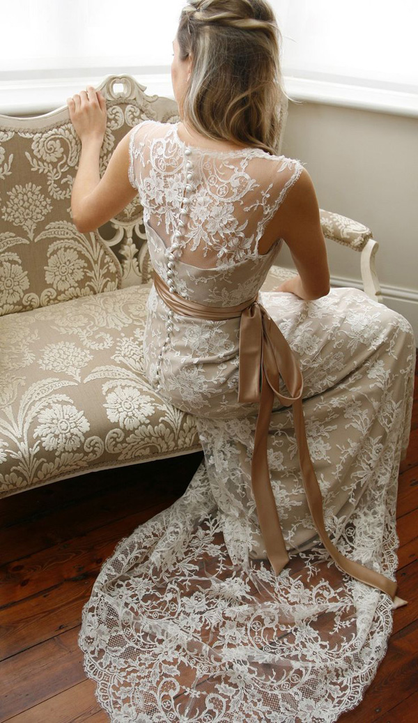 vintage-lace-illusion-wedding-dresses-with-nude-ribbon