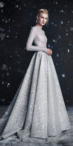 fabulous winter wedding gown