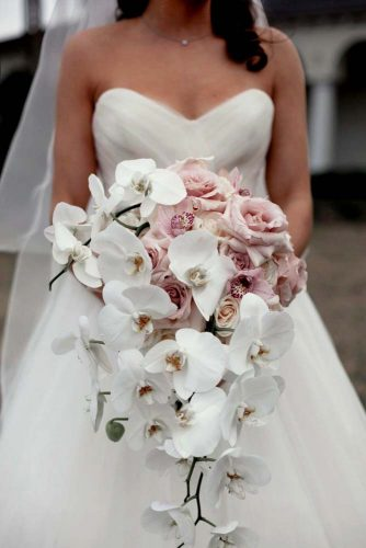 beautiful soft pink orchids bouquet