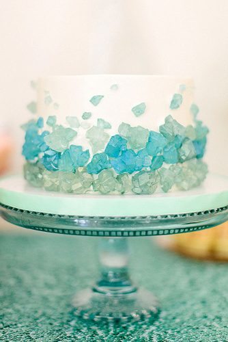 blue mini wedding cake