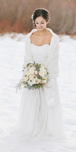 chic winter wedding dress