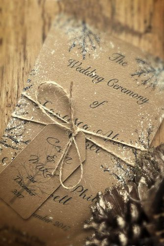 awesome rustic winter wedding invitation