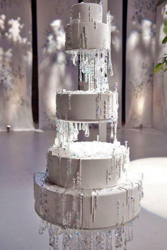 winter layer wedding cake