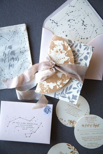 winter wedding invitation without snowflake