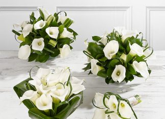 white calla lily wedding bouquets