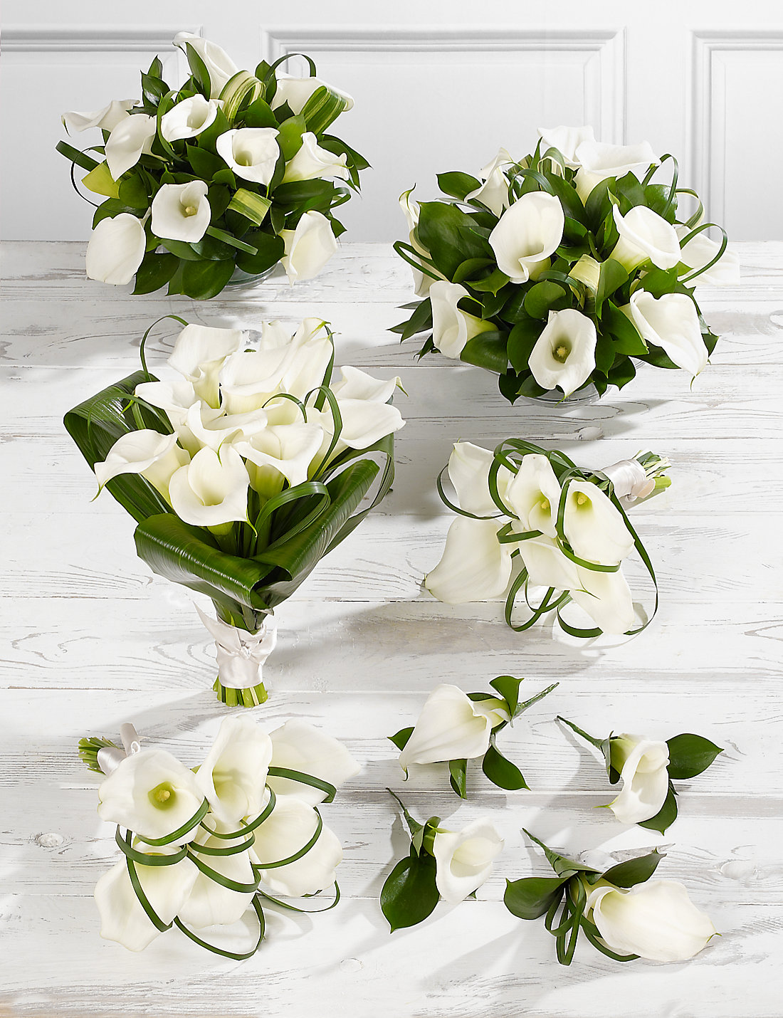 White Calla Lily Wedding Bouquets Showing Simple And Classic