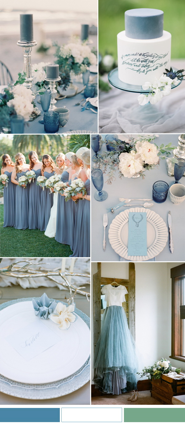 Niagara-blue-and-white-wedding ideas-for-spring-summer-wedding stylish wedd