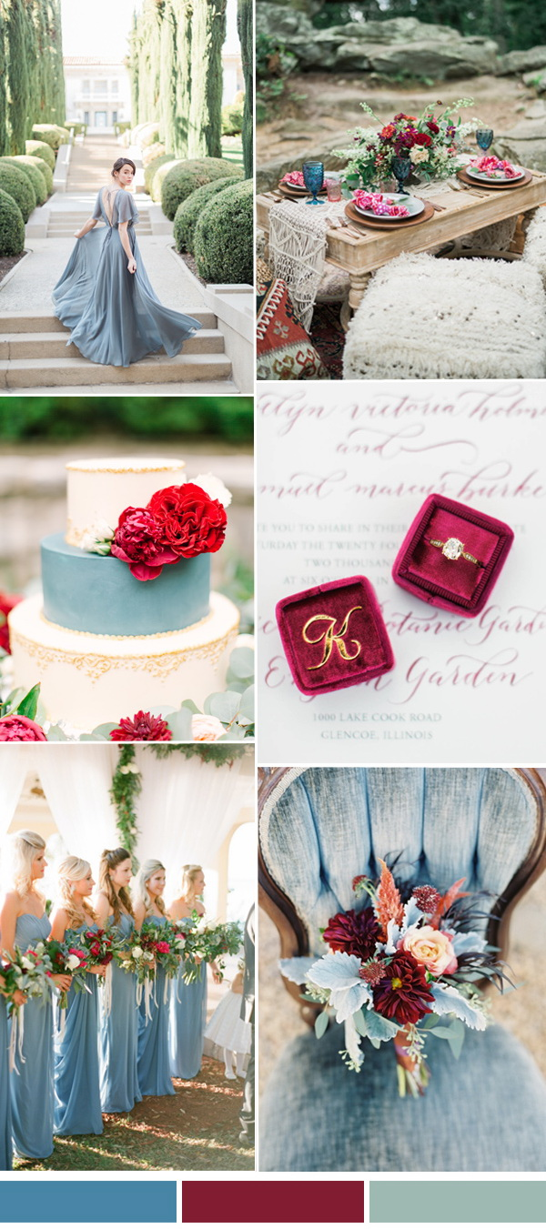 Pantone-cranberry-and-niagara-blue-wedding-color-ideas