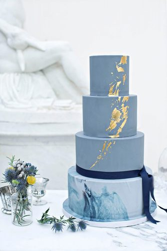 blue cake wedding design