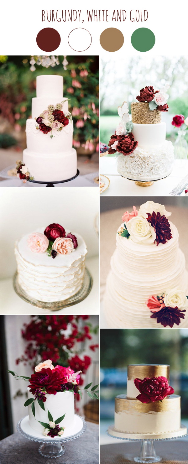 burgundy-and-white-wedding-cake-ideas
