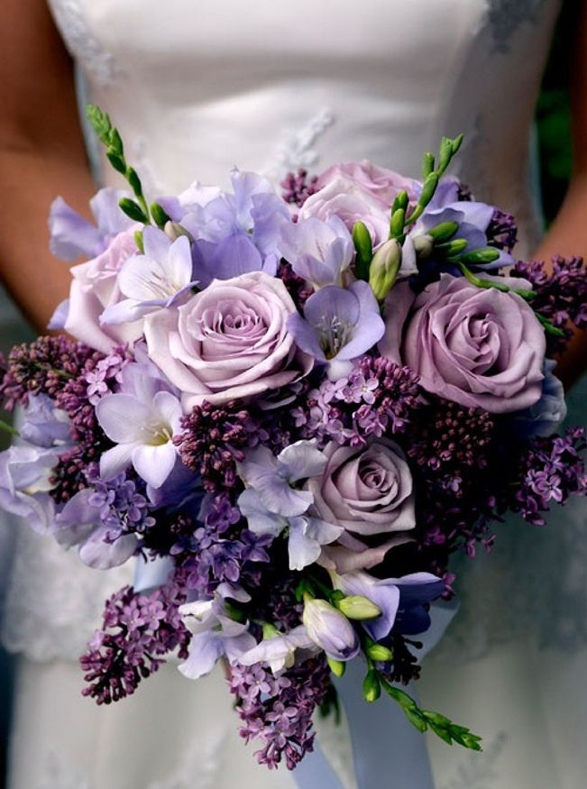 charming purple wedding bouquet