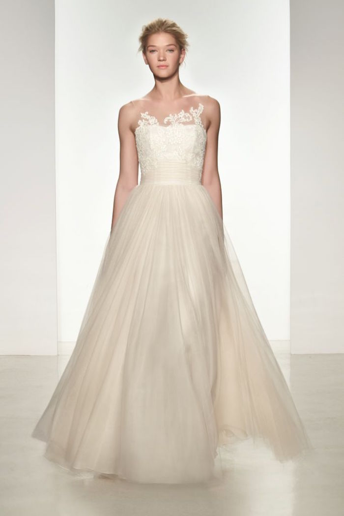 classic wedding gown with lace