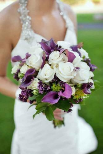 cute purple wedding bouquet