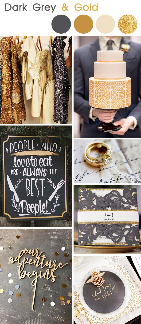 dark-grey-and-gold-vintage-wedding-colors
