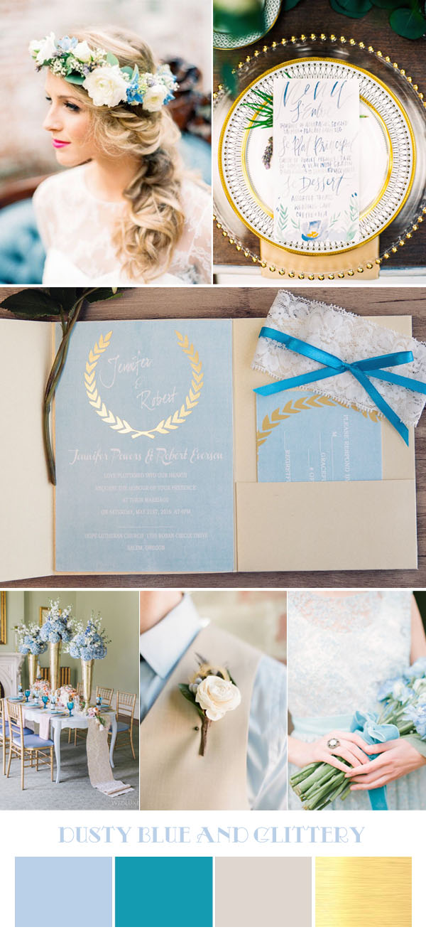dusty-blue-and-metallic-wedding-color-ideas