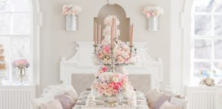 elegant wedding place decor